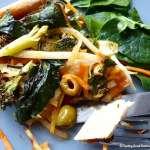 Pizza végétalienne et Poêlée de légumes : Une recette, deux plats végétaliens