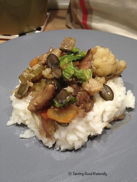 Poêlee legumes et cepes