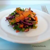 Tasting Good Naturally : Salade de chou aux fruits #vegan