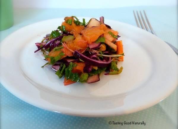 Salade de chou rouge aux fruits – Végétalienne –