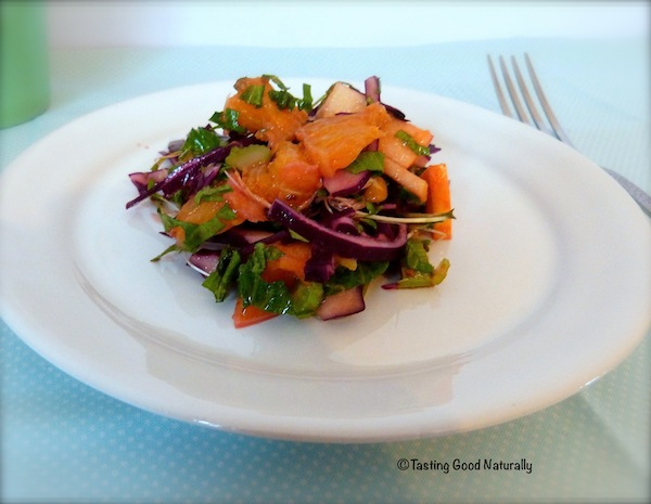 Salade chou rouge aux fruits copie