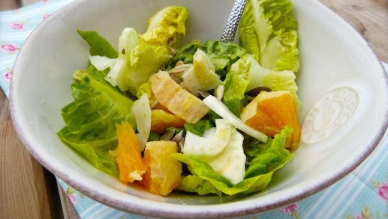 Salade de fenouil et orange – Végétalien –