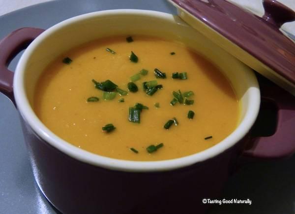Soupe au potimarron et lait de coco – Végétalien –