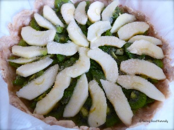 Tarte pommes kiwis