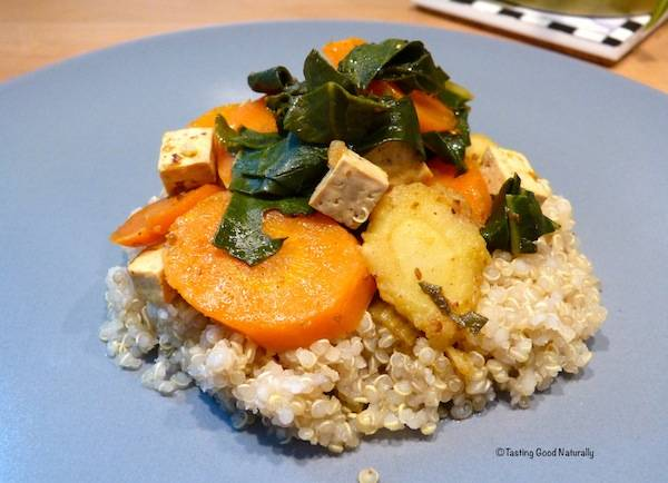 Tofu aux légumes accompagné de quinoa #vegan