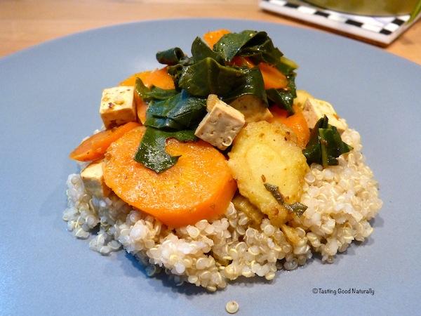 Tofu aux légumes et quinoa