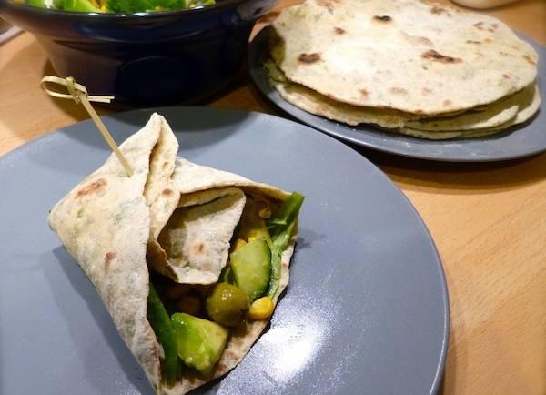 Tortillas à la roquette – Végétalien –
