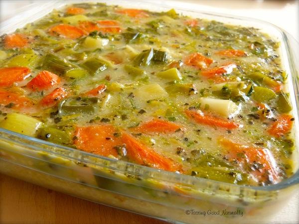 Millet aux petits légumes végétalien