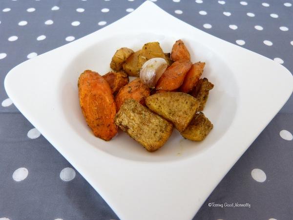 Navets et carottes rôtis - Recette végétalienne