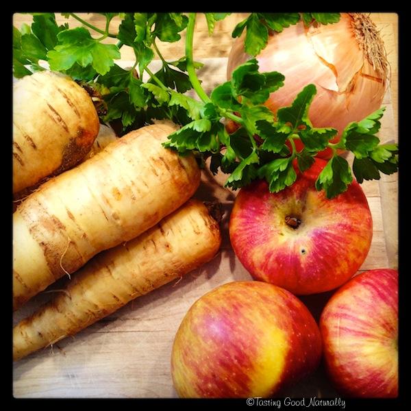 Soupe panais et pommes végétalienne