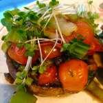 Tasting Good Naturally : Portobellos farcis au pak choï et tomates cerises #vegan