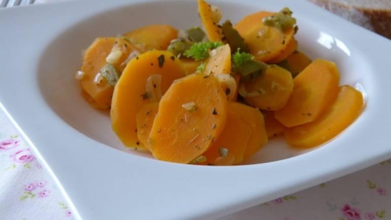 Carottes à la sauge et aux poivrons – Vegan