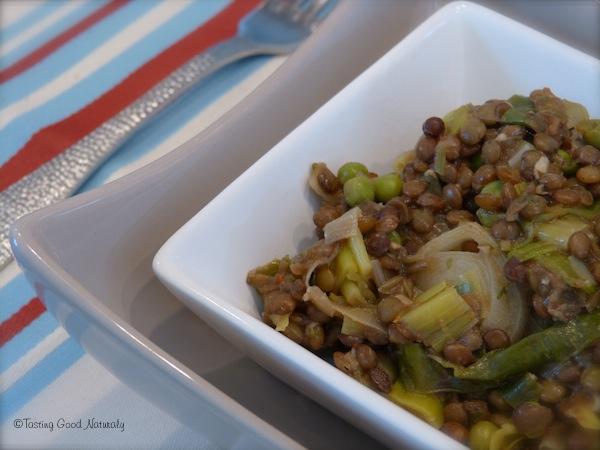 Lentilles aux poireaux - Vegan