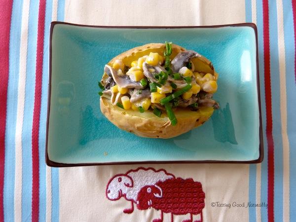 baked potato aux champignons