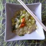 Pak choï aux nouilles de soja Vegan