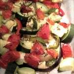 Aubergines et légumes rôtis sans matière grasse – vegan