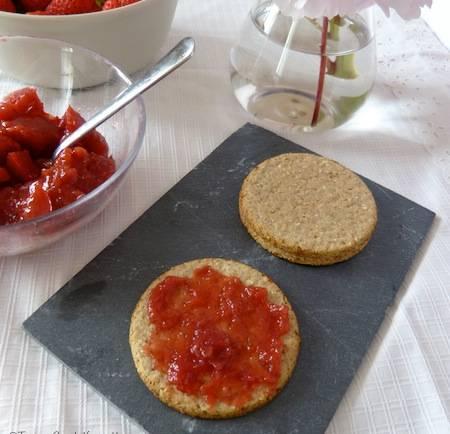 gelée confiture fraise abricots pomme - vegan