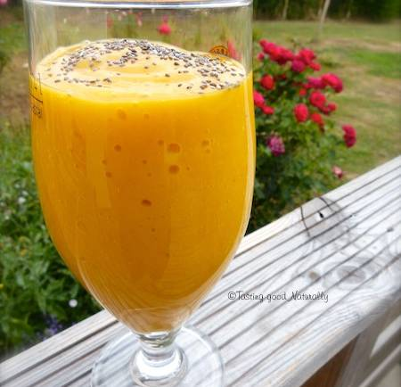 Mango, banana and apricots Smoothie - Vegan