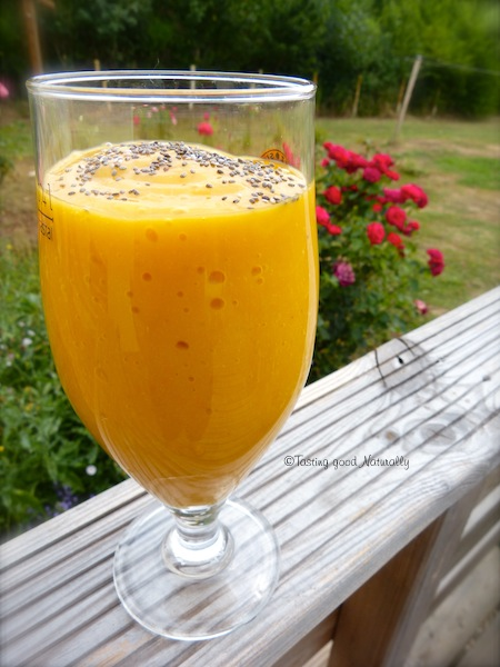 smoothie mangue banane abricots