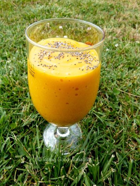 smoothie mangue banane et abricots