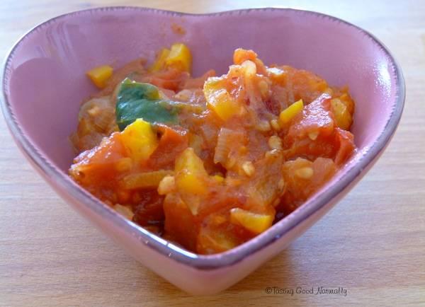 Sauce tomates poivrons épinards, sans matière grasse #vegan