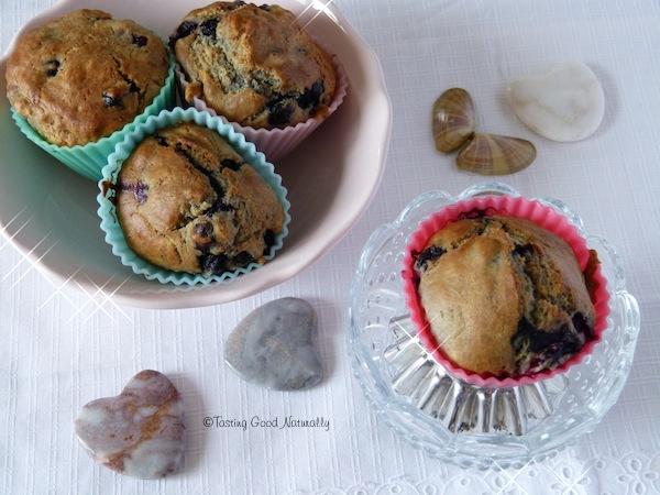 muffin à la myrtille vegan