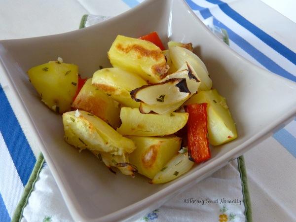 pommes de terre rôties - vegan