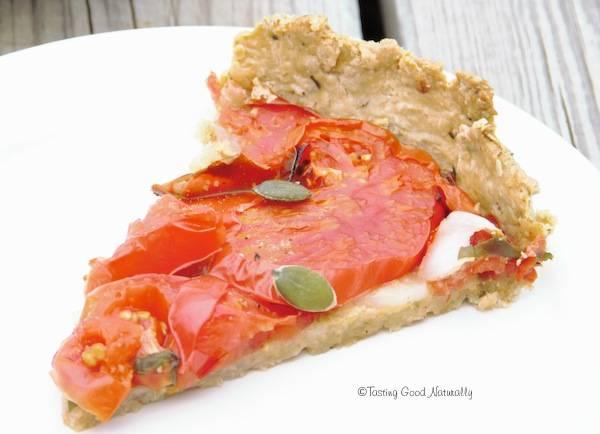 Tasting Good Naturally : Tarte à la tomate #vegan