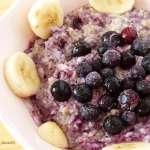 Petit déjeuner aux flocons de sarrasin, myrtilles et banane #vegan #porridge