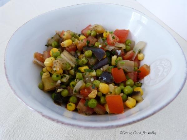 Poêlée de légumes aux petits pois #vegan ou qu'est ce qu'on mange ce soir ?