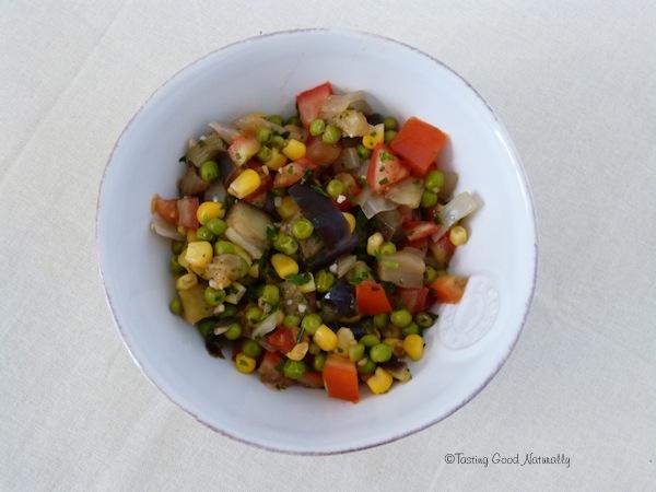 Poêlée de légumes aux petits pois #vegan