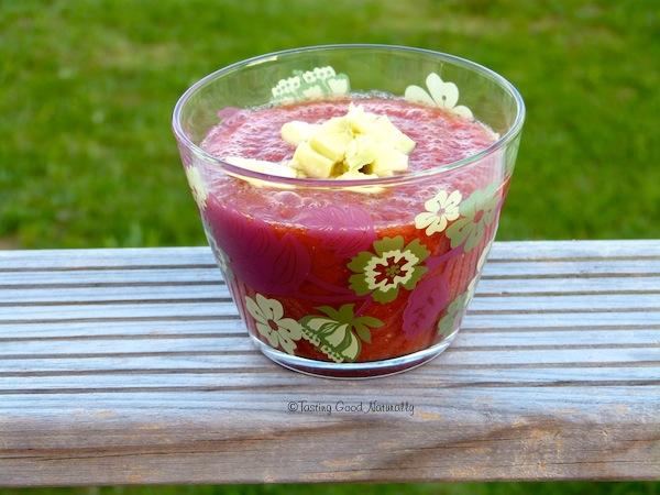 Tasting Good Naturally : Que diriez-vous d'un délicieux Gaspacho à la tomate #vegan #cru  pour vous rafraîchir lors d'une belle journée d'été ?