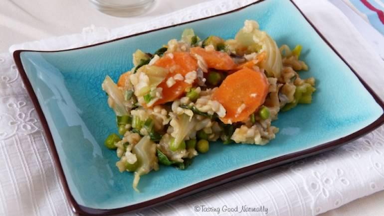 Riz au légumes #vegan… Saviez-vous que le riz se congelait ?