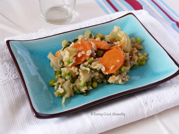 Riz au légumes #vegan... Saviez-vous que le riz se congelait ?