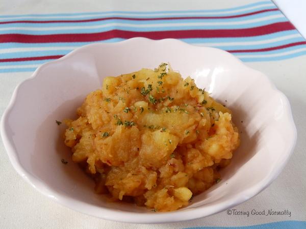 Purée de Pâtisson et pommes de terre #vegan
