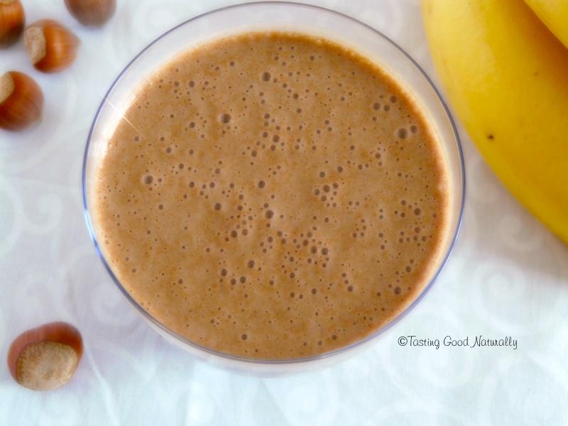 Smoothie banane, quinoa germé, cacao cru #vegan