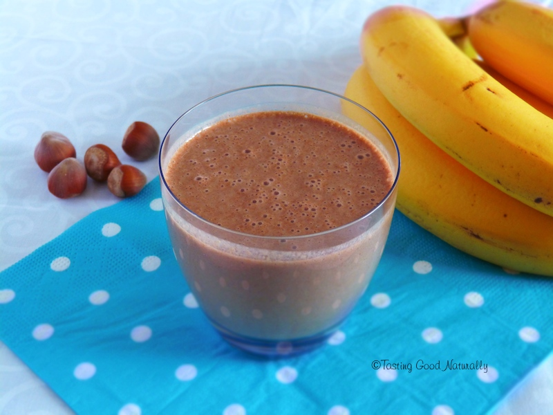 Smoothie bananes, cacao cru quinoa germé #vegan