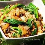 Nouilles Soba aux petits champignons et épinards #vegan