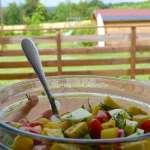 Tasting Good Naturally : Salade de pommes de terre à la vinaigrette de miso et citron #vegan