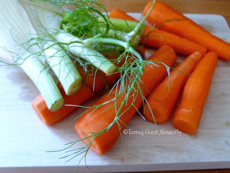 Tasting Good Naturally : Vous avez envie de douceur et de réconfort ? Venez essayer cette Purée de fenouil et carottes aux pois chiches et purée d'amandes #vegan