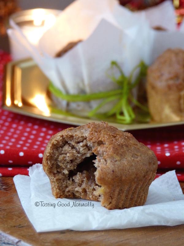 Tasting Good Naturally : Noël est le moment idéal pour faire goûter et découvrir ces Muffins moelleux à la pomme et à la cannelle #vegan aux personnes que vous aimez. La cannelle est une de mes épices préférées de Noël. Et vous ?