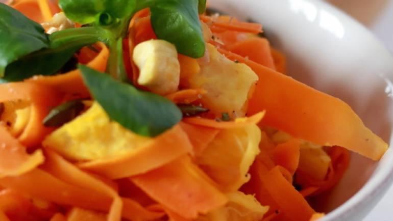Carottes à l'orange, noix de cajou et graines de courges #vegan