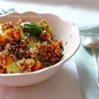 Tasting Good Naturally : Quinoa à la courge rôtie et choux de Bruxelles #vegan