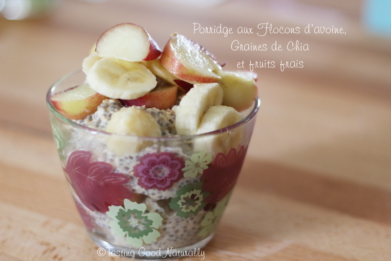 Tasting Good Naturally : Vous rêvez d'un petit déjeuner gourmand ? Venez découvrir mon Porridge aux flocons avoine, graines de chia et fruits frais #vegan en cliquant ici :)