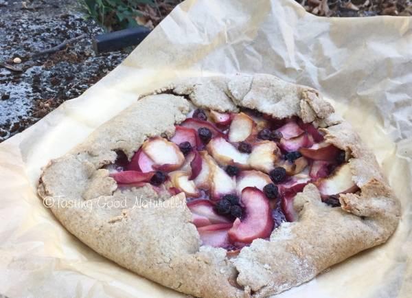 Tasting Good Naturally : Tarte à l'ancienne aux myrtilles et pêches #vegan