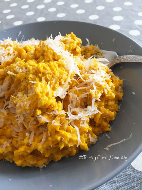 Tasting Good Naturally : Risotto au potimarron avec prosociano #vegan