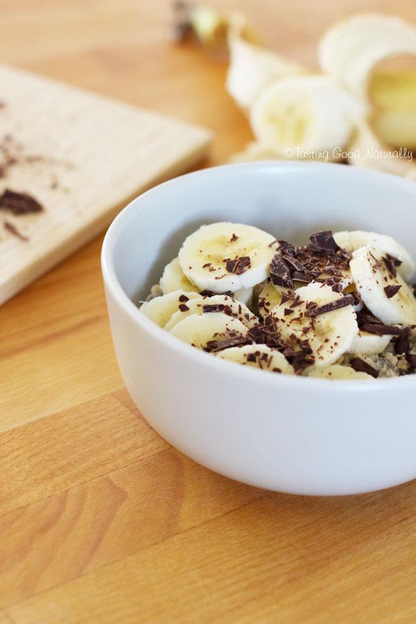 Tasting Good Naturally : Porridge de l'hiver chocolat banane #vegan