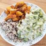 Fondue de poireaux butternut rôtie et quinoa #vegan