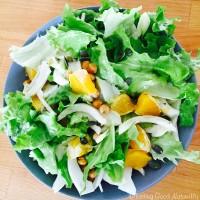 Tasting Good Naturally : Salade de fenouil orange et pois cassés rôtis #vegan