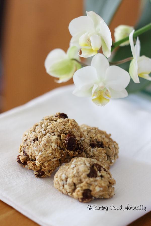 Tasting Good Naturally : Biscuits croquants aux flocons d'avoine et raisins secs véganes